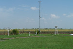 Wind mast in the rural station